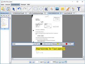 Übersichtliche Dialogboxen bieten weitere Optionen für Annotationen.