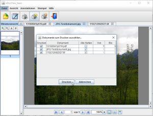 Drucken von einem Dokument oder allen geöffneten Dokumenten gleichzeitig mit intuitiver Menüführung.